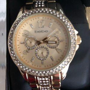 Bebe Women's Gold 3 in 1 Interchangeable Watch Set
